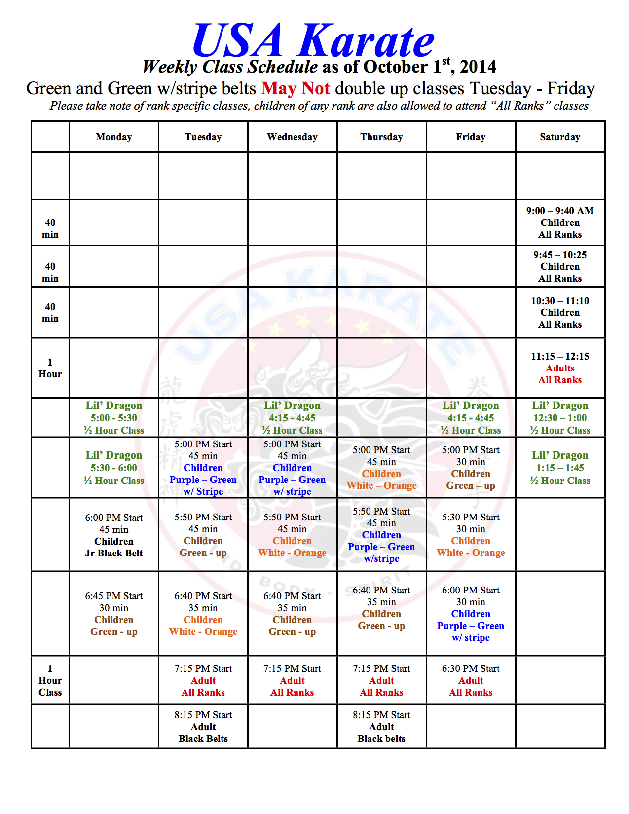 Schedule October 1, 2014 JPEG